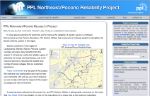 PPL Northeast/Pocono Project Web Site