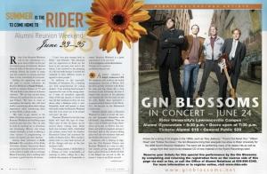 RU Alumni Weekend-Gin Blossoms Spread