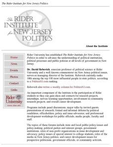 Rider University Institute for New Jersey Politics