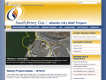 South Jersey Gas Atlantic City MGP Project Website