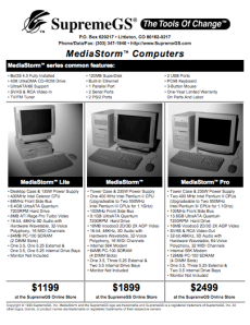 SupremeGS MediaStorm Fact Sheet
