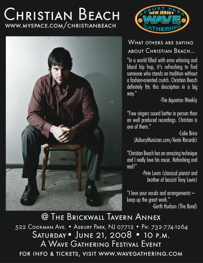 Christian Beach Live @ The Brickwall Tavern Annex, 6-21-08