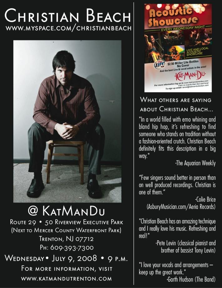 Christian Beach Live @ KatManDu 7-9-08