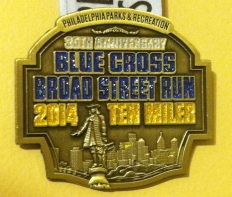 2014 Broad Street Run medal
