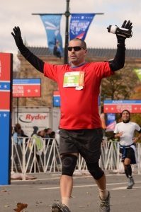 Finishing the 2017 Philadelphia Marathon