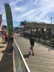 Running on the boardwalk. Photo by Alison Kelley.