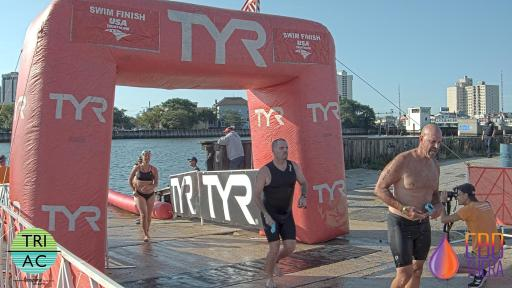 Coming out of the water. Photo courtesy DelMo Sports/MyLaps.